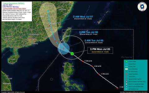 Tropical Depression EMONG Advisory No. 04