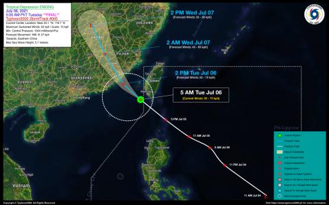 Tropical Depression EMONG Final Advisory