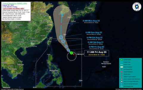 Tropical Depression ISANG (16W) StormWatch No. 01