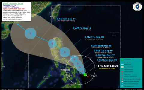 Tropical Depression JOLINA Advisory No. 01