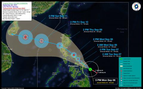 Tropical Storm JOLINA (CONSON) Advisory No. 02