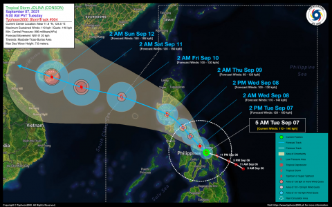 Severe Tropical Storm JOLINA (CONSON) Advisory No. 04
