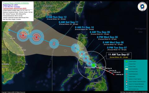 Severe Tropical Storm JOLINA (CONSON) Advisory No. 05