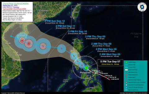 Tropical Storm JOLINA (CONSON) Advisory No. 06