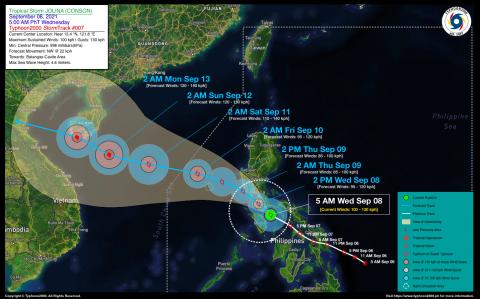 Severe Tropical Storm JOLINA (CONSON) Advisory No. 07