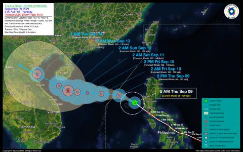Severe Tropical Storm JOLINA (CONSON) Advisory No. 10