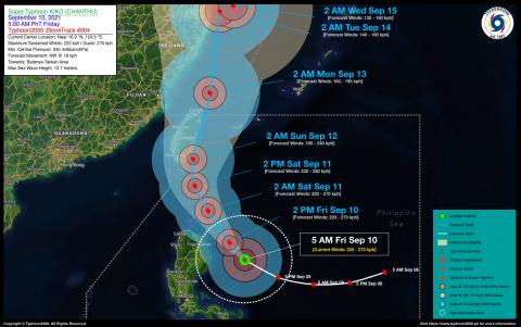 Typhoon KIKO (CHANTHU) Advisory No. 04