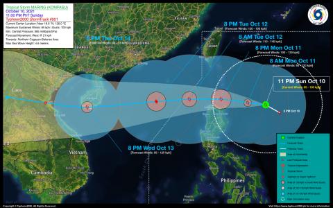 Tropical Storm MARING (KOMPASU) Advisory No. 01