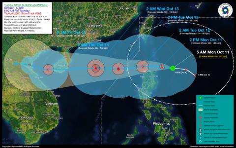 Tropical Storm MARING (KOMPASU) Advisory No. 02