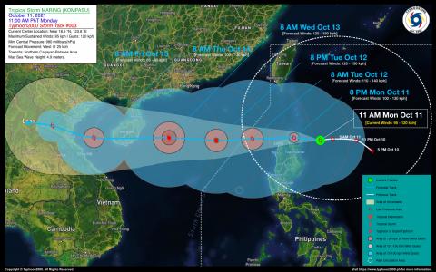 Severe Tropical Storm MARING (KOMPASU) Advisory No. 03
