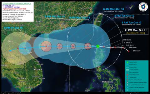 Severe Tropical Storm MARING (KOMPASU) Advisory No. 05