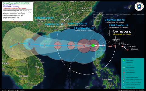 Severe Tropical Storm MARING (KOMPASU) Advisory No. 06